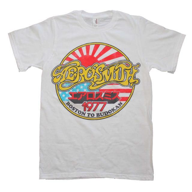 Aerosmith T Shirt | Aerosmith Boston to Budokan Vintage Inspired Slim Fit T-Shirt