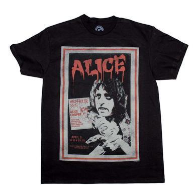 Alice Cooper T Shirt | Alice Cooper Vintage Poster T-Shirt
