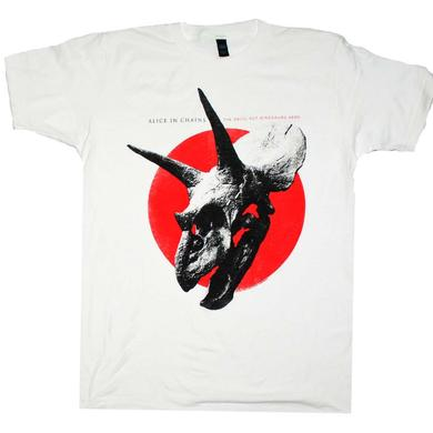 Alice in Chains T Shirt | Alice in Chains the Devil Put Dinosaurs Here Red Dot T-Shirt