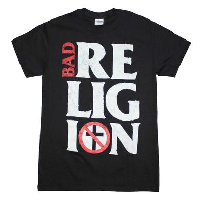 Bad Religion T Shirt | Bad Religion Stacked Logo T-Shirt