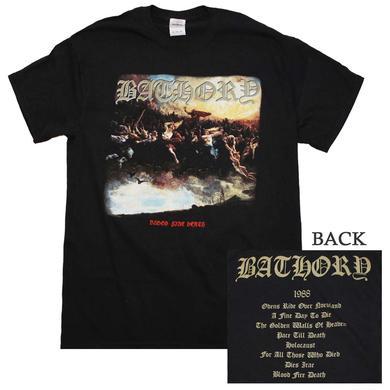 Bathory T Shirt | Bathory Blood Fire Death T-Shirt