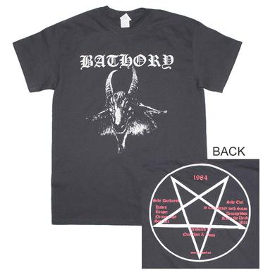 Bathory T Shirt | Bathory Goat Logo T-Shirt