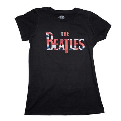 Beatles T Shirt | Beatles Union Jack Classic Logo Juniors T-Shirt