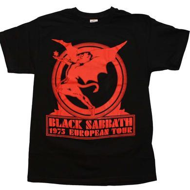 Black Sabbath T Shirt   Black Sabbath Europe 75 T-Shirt
