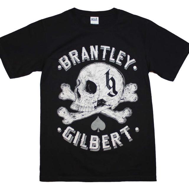 Brantley Gilbert T Shirt   Brantley Gilbert Skull T-Shirt