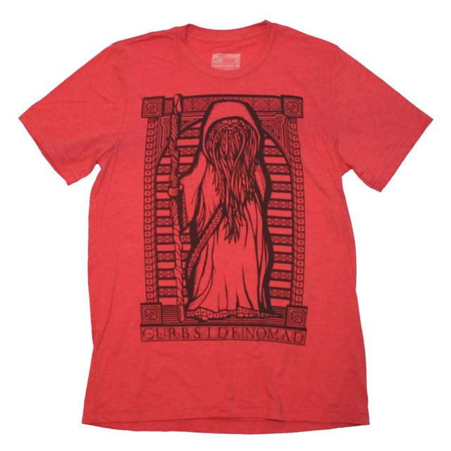 Designer Streetwear T Shirt | Curbside Clothing Nomad Black on Heather Red Triblend T-Shirt