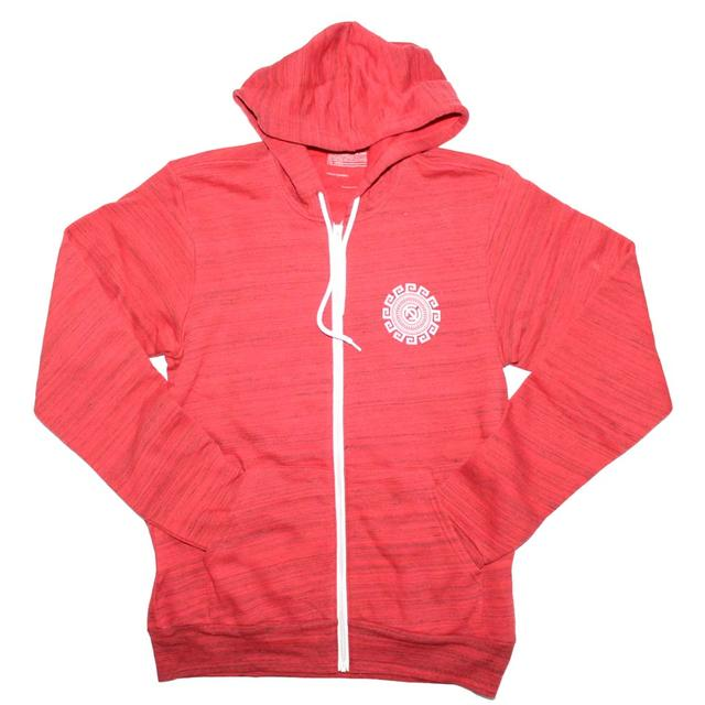 Designer Streetwear T Shirt | Curbside Clothing Rotation Red Marble Designer Hoodie