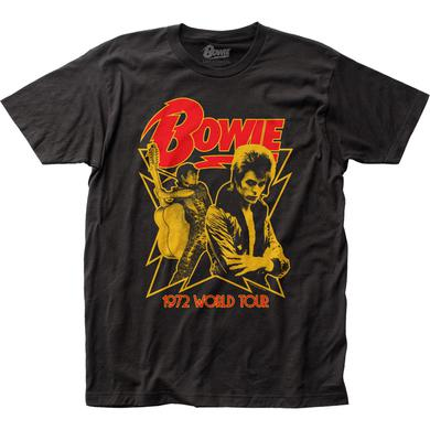 David Bowie T Shirt | David Bowie 1972 World Tour T-Shirt