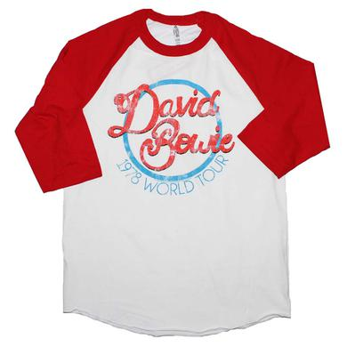David Bowie T Shirt | David Bowie 1978 World Tour Raglan Sleeve T-Shirt