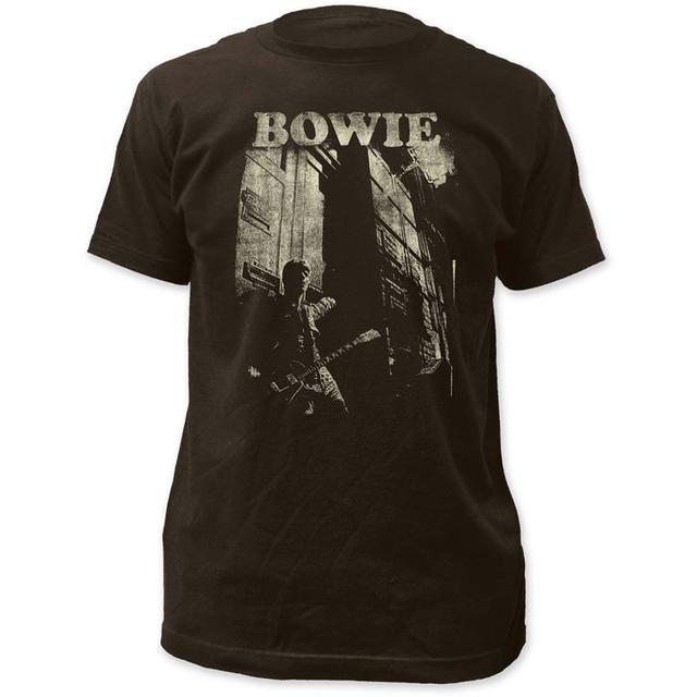 David Bowie T Shirt | David Bowie Guitar Fitted Jersey T-Shirt