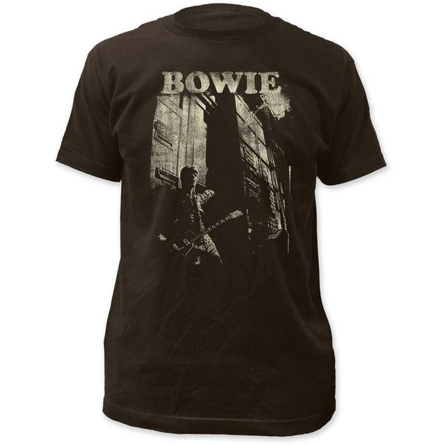David Bowie T Shirt   David Bowie Guitar Fitted Jersey T-Shirt