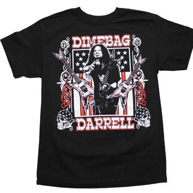 Pantera T Shirt | Dimebag Darrell Guitars Flag T-Shirt