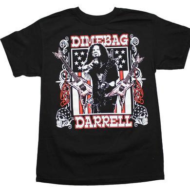 Pantera T Shirt | Dimebag Darrell Guitars Flag T-Shirt