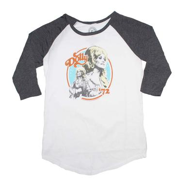 Dolly Parton T Shirt | Dolly Parton Dolly 72 Juniors Raglan Sleeve Tee