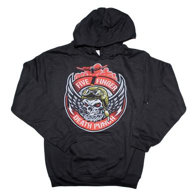 Five Finger Death Punch Bomber Patch Hoodie Sweatshirt