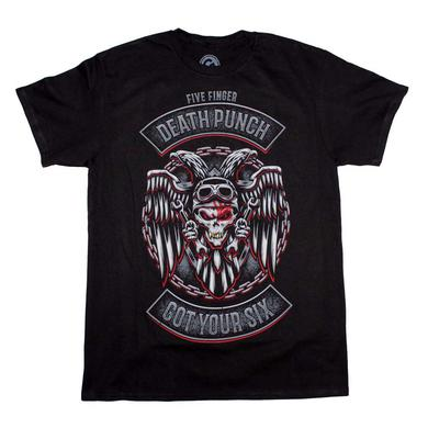 Five Finger Death Punch T Shirt | Five Finger Death Punch BTD Biker Badge T-Shirt