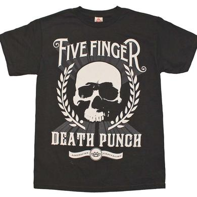 Five Finger Death Punch T Shirt | Five Finger Death Punch Skull Zoom T-Shirt