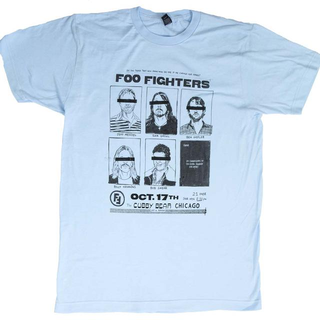 Foo Fighters T Shirt | Foo Fighters Cubby Bear Chicago Soft T-Shirt