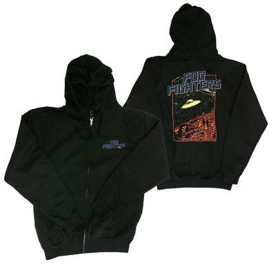 Foo Fighters UFO Zip Hoodie Sweatshirt