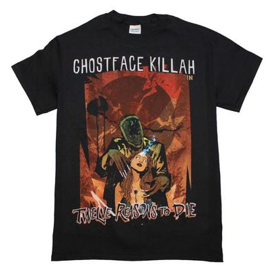 Ghostface Killah T Shirt | Ghost Face Killah 12 Reasons to Die T-Shirt