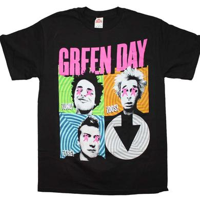 Green Day T Shirt | Green Day Spiral Four T-Shirt