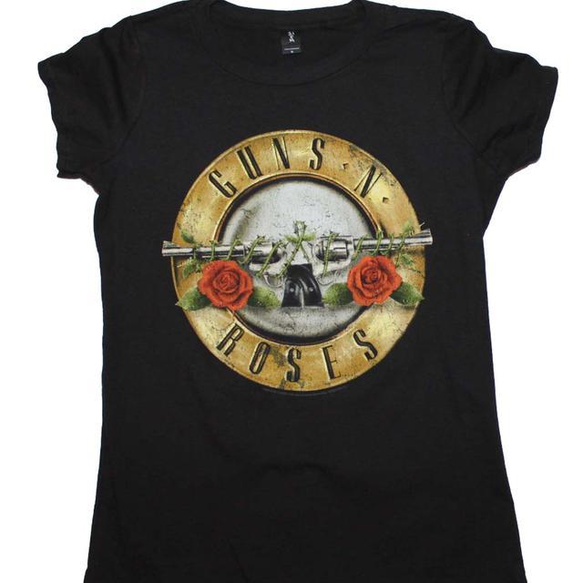 Guns n Roses T Shirt | Guns n Roses Distressed Bullet Juniors T-Shirt