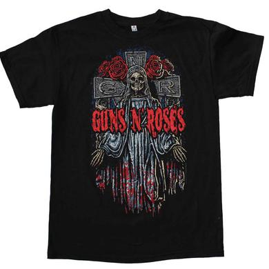 Guns n Roses T Shirt | Guns n Roses Skeleton Cross T-Shirt