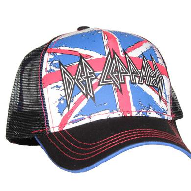 Def Leppard Union Jack Mesh Back Trucker Hat