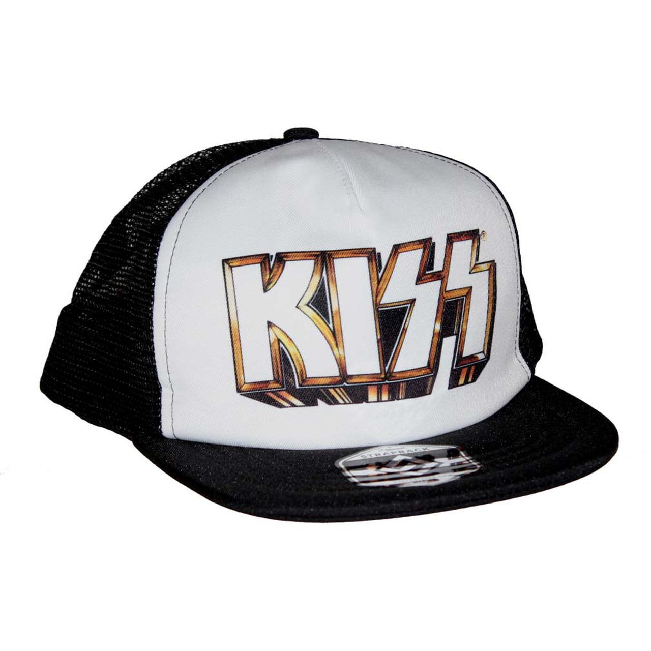5c5ee198388 Kiss Gold Logo Snapback Trucker Hat