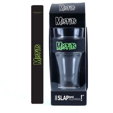 Misfits Green Logo Heavy Duty Slap Band Pint Glass