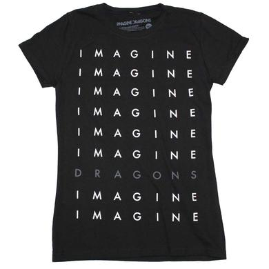 Imagine Dragons T Shirt | Imagine Dragons Stacked Logo Juniors T-Shirt