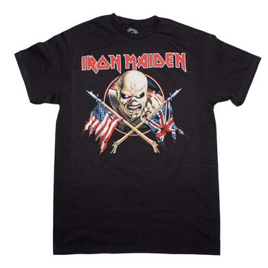 Iron Maiden T Shirt | Iron Maiden Crossed Flags T-Shirt