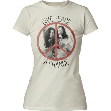 John Lennon T Shirt | John Lennon Give Peace a Chance Juniors Tee
