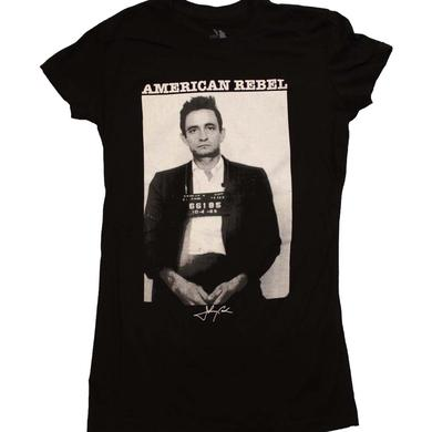 Johnny Cash T Shirt | Johnny Cash American Rebel Junior's T-Shirt