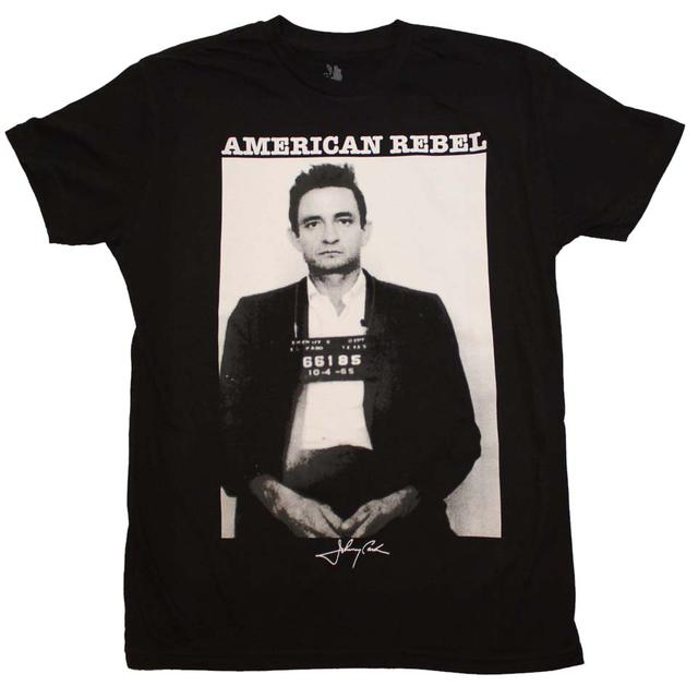 Johnny Cash T Shirt | Johnny Cash American Rebel Mugshot T-Shirt