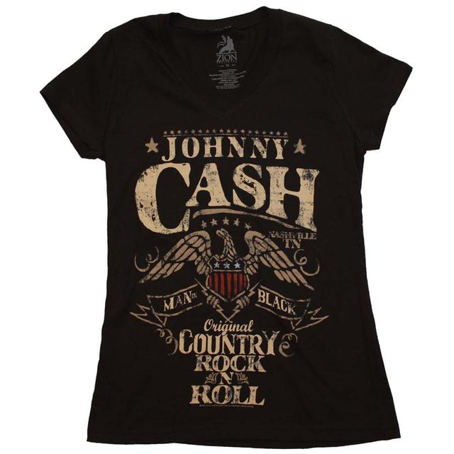 Johnny Cash T Shirt | Johnny Cash Country Rock Juniors T-Shirt