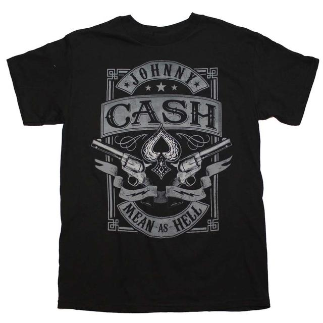 Johnny Cash T Shirt | Johnny Cash Mean as Hell T-Shirt