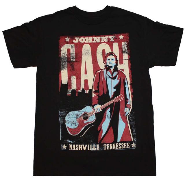 Johnny Cash T Shirt | Johnny Cash Nashville Poster T-Shirt