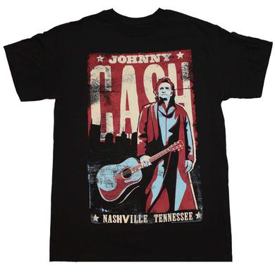 Johnny Cash T Shirt | Johnny Cash Nashville Poster T-Shirt