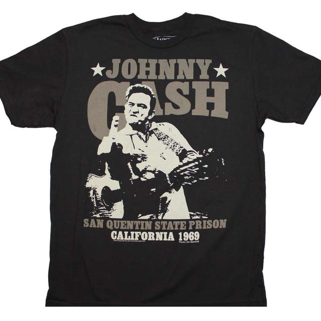 Johnny Cash T Shirt | Johnny Cash San Quentin Stars T-Shirt
