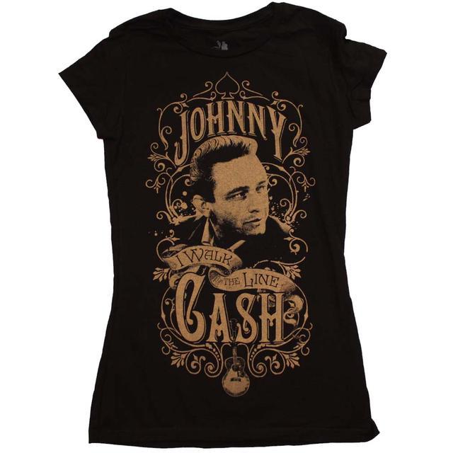 Johnny Cash T Shirt | Johnny Cash Walk the Line Junior's T-Shirt