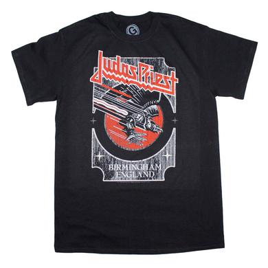 Judas Priest T Shirt | Judas Priest Silver and Red Vengeance T-Shirt