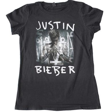 Justin Bieber Purpose Album Cover Juniors T-Shirt