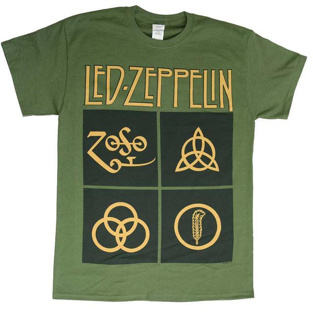 Led Zeppelin T Shirt | Led Zeppelin Black Box Symbols T-Shirt