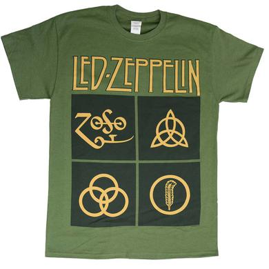 Led Zeppelin T Shirt | Led Zeppelin Black Box Symbols T-Shirt