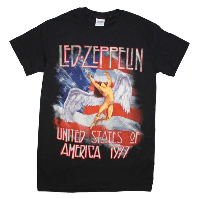 Led Zeppelin T Shirt | Led Zeppelin Men's America 1977 T-Shirt