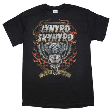 Lynyrd Skynyrd T Shirt   Lynyrd Skynyrd Motor Skull T-Shirt
