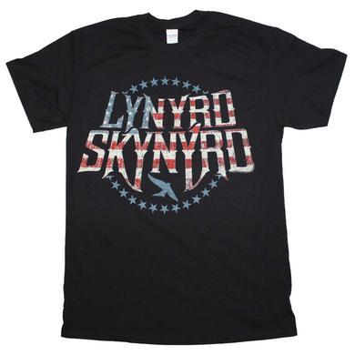 Lynyrd Skynyrd T Shirt | Lynyrd Skynyrd Stripes and Stars Logo T-Shirt