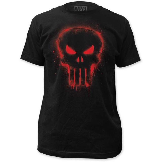 Marvel Comics Punisher T Shirt | Marvel Comics Punisher Red Logo T-Shirt