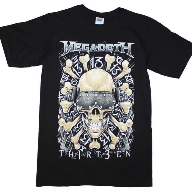 Megadeth T Shirt   Megadeth Red Bones Regular T-Shirt